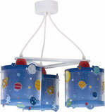 Dalber 3-lamps hanglamp Planets 41344 Blauw_