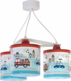 Dalber 3-lamps hanglamp Police 60614 multi-color_