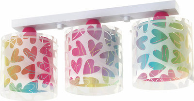 Dalber 3-lamps plafondlamp Cuore 41183 multi-color