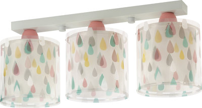 Dalber 3-lamps plafondlamp Color Rain 41433 wit