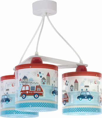 Dalber 3-lamps hanglamp Police 60614 multi-color