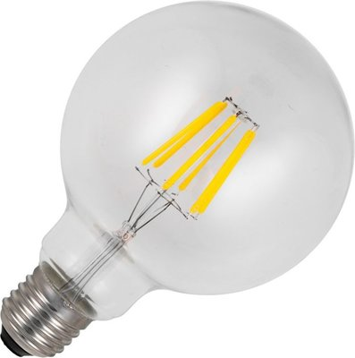 Schiefer led filament e27 bol 5.5w g95x135mm 2500k helder dimbaar