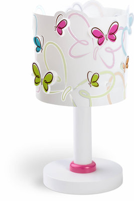 Dalber tafellamp Butterfly 62141 wit