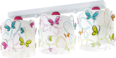 Dalber 3-lamps plafondlamp Butterfly 62143 wit