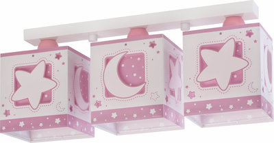Dalber 3-lamps plafondlamp Moonlight 63233NS roze