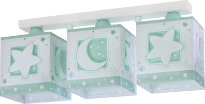 Dalber 3-lamps plafondlamp Moonlight 63233NH groen