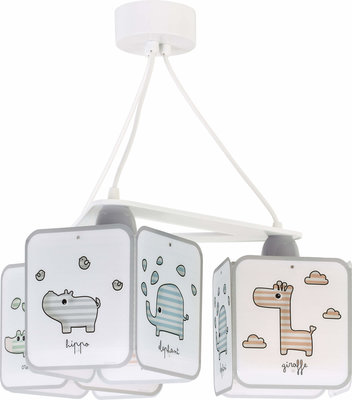 Dalber 3-lamps hanglamp Baby Zoo 75124 wit