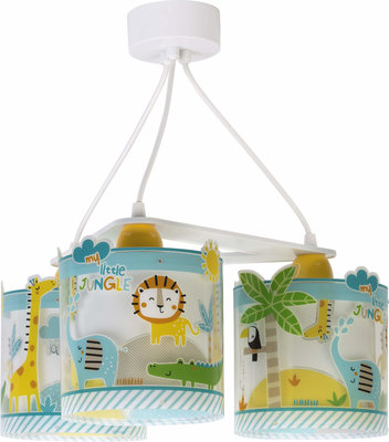 Dalber 3-lamps hanglamp My Little Jungle 76114 multi-color