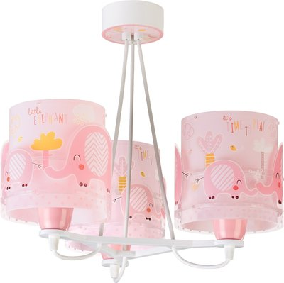Dalber hanglamp 3-lamps Little Elephants 61337S roze