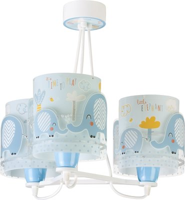Dalber hanglamp 3-lamps Little Elephants 61337T blauw