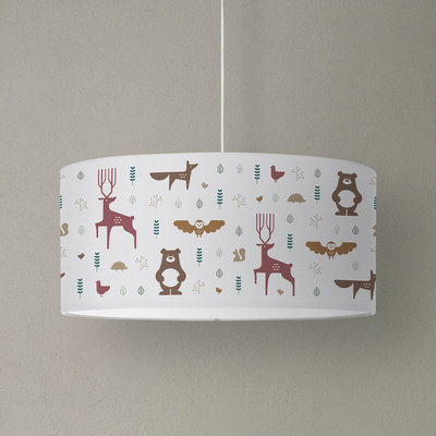 Label 22 LBL22005 Hanglamp Bosdieren multi-color